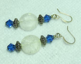 Frosted Agate Earrings