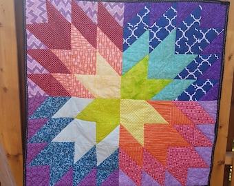 Starburst Quilt - Handmade in Canada