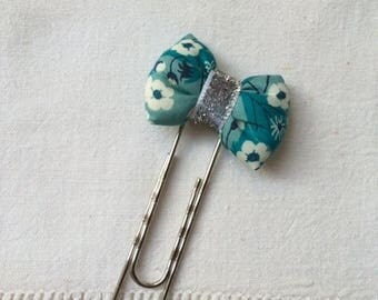 Bookmark with liberty Mitsi Mint bow