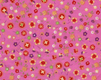 Cotton fabrics coupons flowers 10 x 95 cm
