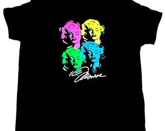 Womens Marilyn Monroe T Shirt Black Graphic