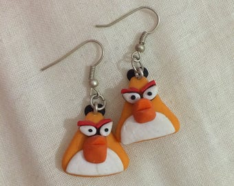 from the game angry bird yellow earring