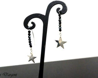 Star earrings Silver 925/swarovski crystal beads