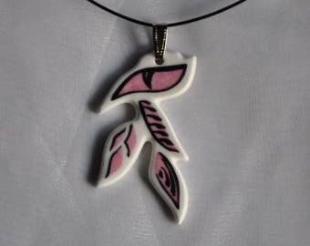 Necklace porcelain of limoges