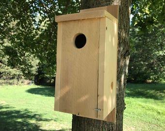 Blue bird house Rough Sawn Cedar