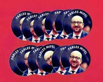 FARTLES MIFEL - 12 Mini stickers 5 * 5cm
