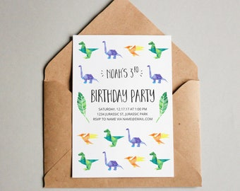 Dino Party/ Dinosaur Birthday Invitation/ Dino Birthday/ Birthday Invitation/ Dinosaur Decorations/ Printable/ Custom Invite/ Digital Invite