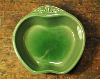 "Cute green apple shaped ceramic bowl ""Mars"""