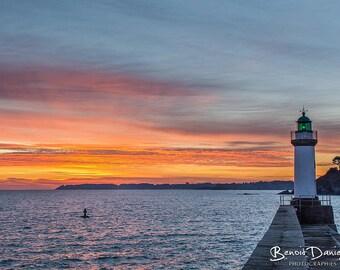 Beautiful island in Lake Sunrise photograph 20x30cm