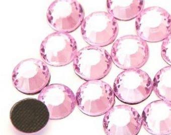 Rhinestones fusible pink 5mm - 10 rhinestone bag