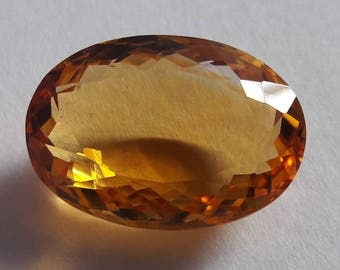 1 Piece, 100% Natural Citrine Oval Shape Faceted cut, Citrine Faceted Oval Cut, Loose Gemstone Beads, 16x13mm Size