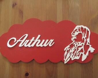 customizable with Indian Red door plaque