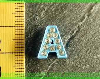 bead toned N5 letter bandwidth rhinestone alphabet for bracelet