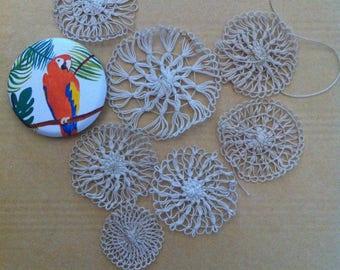 Inlaid lace Applique antique fine