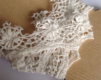 White vintage lace, fine wire