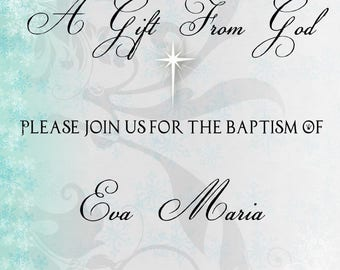 Baptism (Or Christening) Invitation