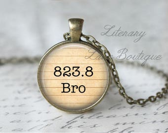 Bronte '823.8 Bro' Dewey Decimal, Library Books, Reading Necklace or Keyring, Keychain.