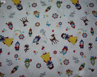 Fabric C773 Snowwhite coupon 35x50cm