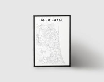 Gold Coast Map Print