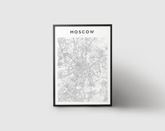 Moscow Map Print