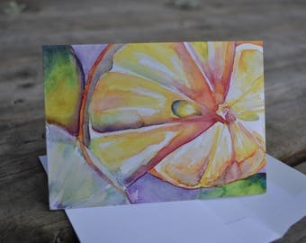 Abstract Sweet Citrus Blank Card with Envelope
