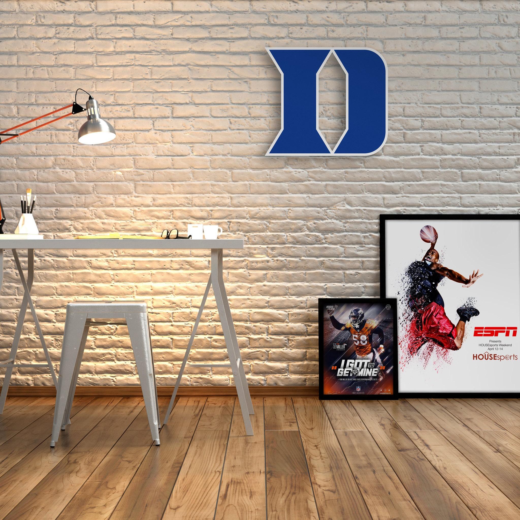 duke blue devils decor wall decor boy room decor boy basketball