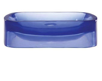 Blue Translucent Soap Dish