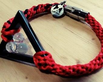 """You're space"" Triangular bracelet"