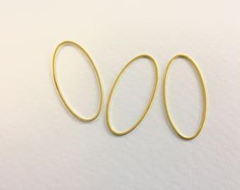 20 spacer connectors 40x19mm Golden jewellery designs