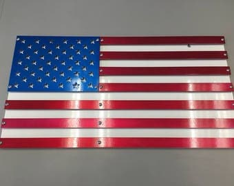 Powder Coated American Flag Sign