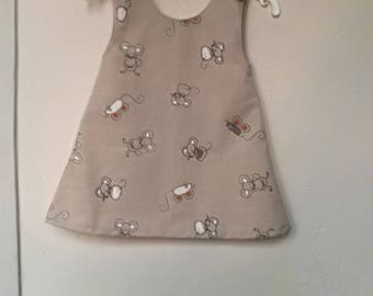 Little mouse in linen T 2 years dress