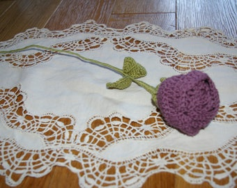 nice old Pink Purple crochet flower