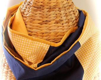 snood/summer grey/Navy unisex scarf
