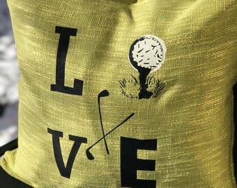 Golf Pillow Cover, Golf Lovers Gift, Golfer, Golf Decor, Golf Decor