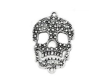 Connector silver skull / skull