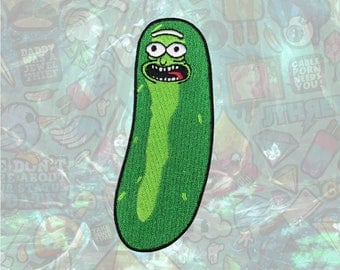 Pickle Rick Rick and Morty Patch Cartoon Face Patch Iron on Patch Sew On Patches