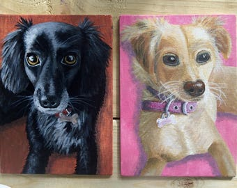 Personalised Custom Pet Dog/Cat/Horse Acrylic Canvas Board Painting