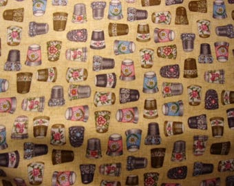 Thimble pleasures by Quilting Treasures, couture line patchwork fabric,