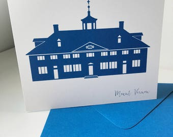 Alexandria Virginia Mount Vernon Card A2