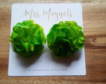 Lettuce Magnets Set of 2 - kitchen refrigerator magnets, office magnets, teacher gift, hostess gift