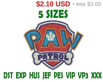SALE 30% Paw Patrol Logo logo embroidery design - Instant Download machine embroidery pattern