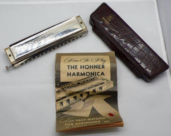 Vintage Hohner The 64 Chromonica  4 Chromatic Octaves Professional Model 280C Harmonica Made in Germany