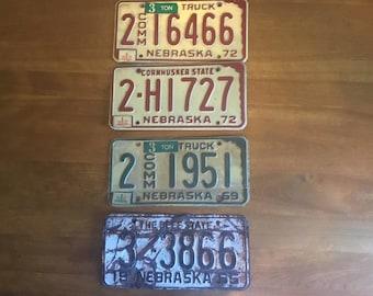 Vintage License Plates - set of 4