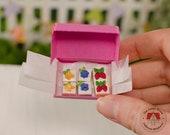 Miniature Cheese Cake Squares, 1:12 Scale Dollhouse Cake Fruit Tarts, 1/12 Dollhouse Desserts