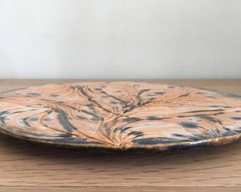 Ceramic Plate / Platter Hand Carved