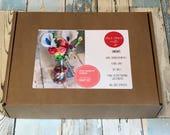 Felt Flower Kit, Felt Craft Kit, Felt Flowers, Gift for Her, Gift for Mum, Billy Ball Flowers, Felt Ball Flowers, Craft Kit, Felt Bouquet