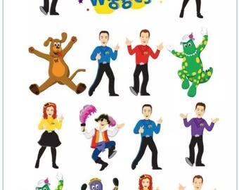 The Wiggles Temporary Tattoo Sticker. Party Supplies Bunting Lolly Loot Bags