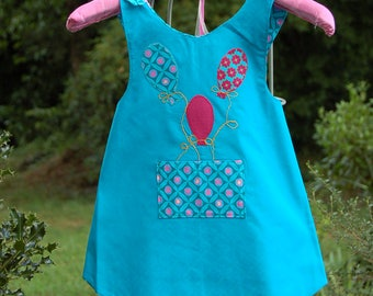 """Small top shape apron for 6/7 years old """"Balloons"""""""