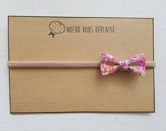 "Elastic headband/headband bow ""Chive pink Liberty"""