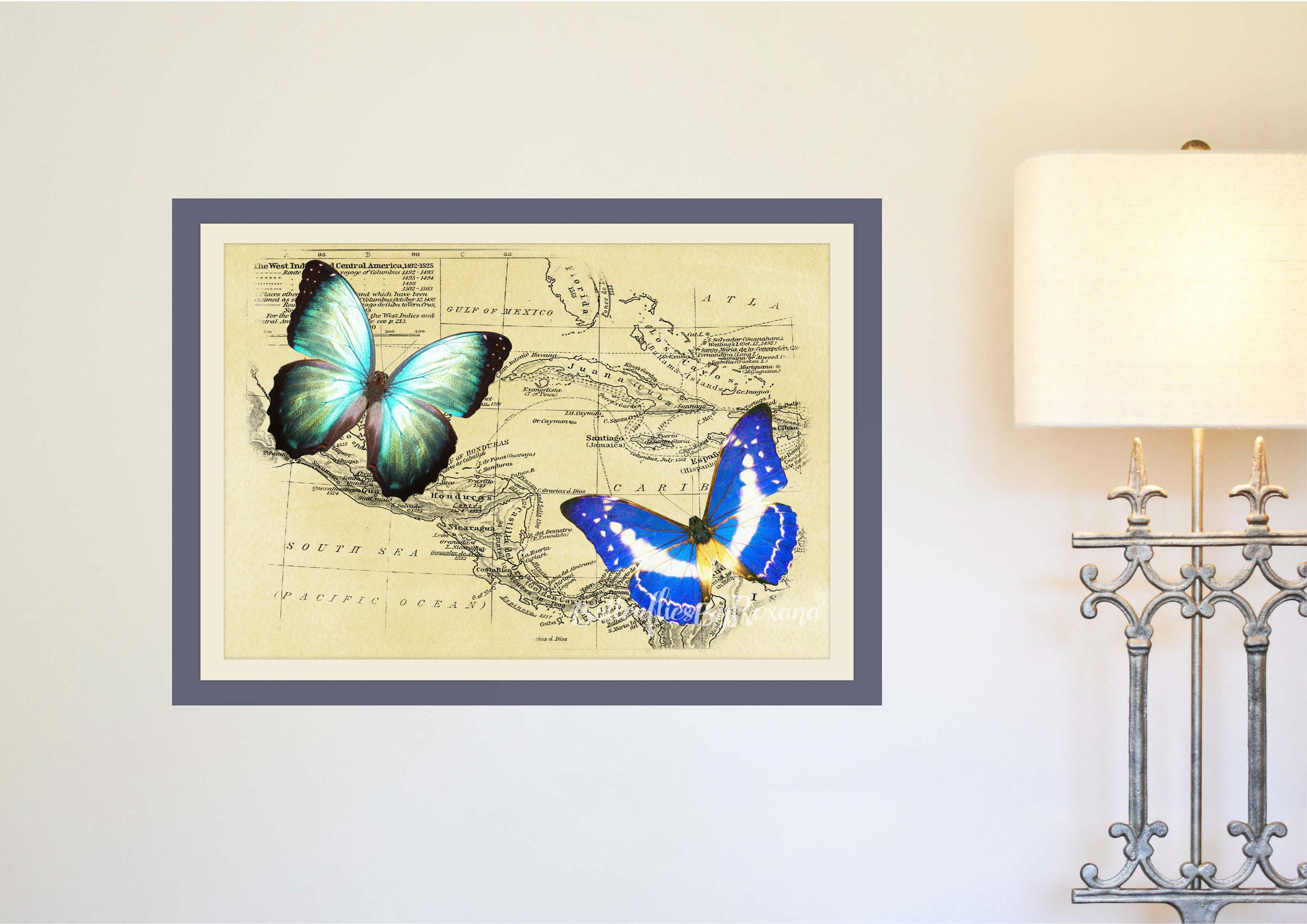 Fantastic Wall Art Butterflies Motif - Wall Art Collections ...